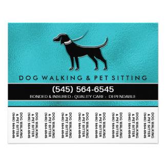 """El caminante 5,6 x4.5 del perro rasga apagado folleto 4.5"""" x 5.6"""""""
