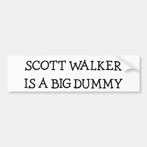 El caminante de Scott es un maniquí grande Pegatina De Parachoque