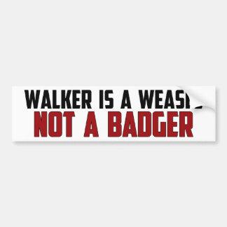 El caminante es una comadreja pegatina para auto