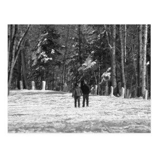 El caminar a través de las maderas postales
