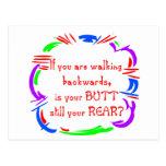 El caminar al revés tarjeta postal
