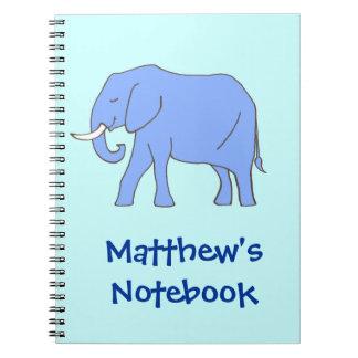 El caminar azul pacífico del elefante cuadernos