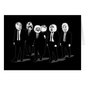 el caminar cómico de las caras del meme de la rabi felicitación