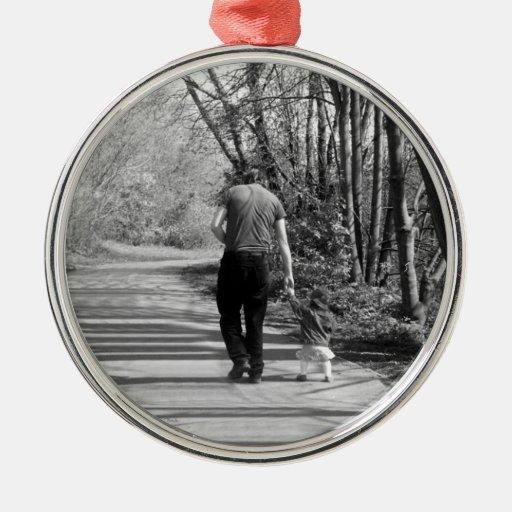 El caminar con el papá adorno de navidad