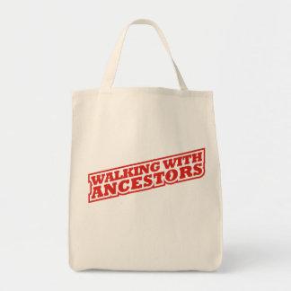 El caminar con los antepasados bolsa tela para la compra