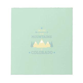 El caminar de Colorado Bloc De Notas
