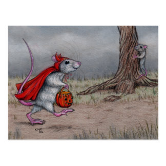 El caminar de Halloween del diablo de la rata Postal