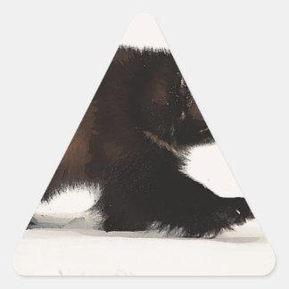 El caminar de Wolverine Pegatina Triangular