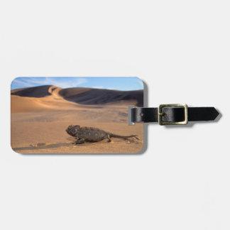 El caminar del camaleón de Namaqua Etiquetas Maletas