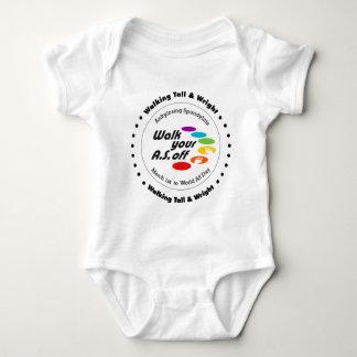 El caminar del equipo alto y Wright - camina su Body Para Bebé