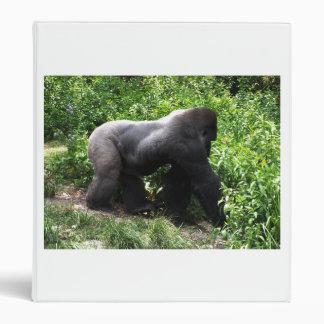 El caminar del gorila del Silverback sideway