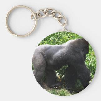 El caminar del gorila del Silverback sideway Llavero