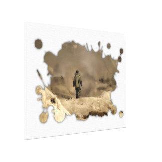 El caminar del juego de la bomba impresión en lienzo estirada