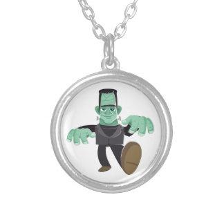 El caminar del monstruo de Frankenstein sonriente Colgante Redondo