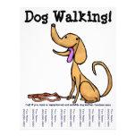 ¡El caminar del perro! Aviador Tarjetas Publicitarias