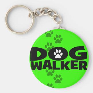 ¡El caminar del perro y promoción del caminante de Llavero Redondo Tipo Pin