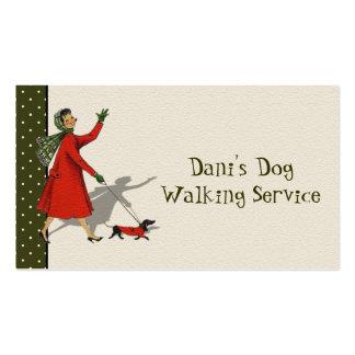 El caminar del perro y tarjeta de visita de servic