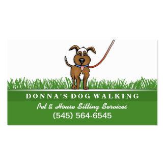 El caminar del perro y tarjeta de visita de