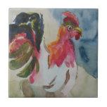 El caminar del pollo tejas  cerámicas