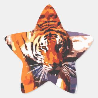 El caminar del tigre colcomanias forma de estrellas