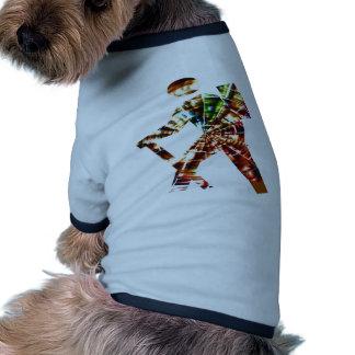 El caminar - diseño rojo cósmico de la chispa camiseta con mangas para perro
