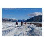 El caminar en el glaciar de Llewellyn - esconda Felicitacion