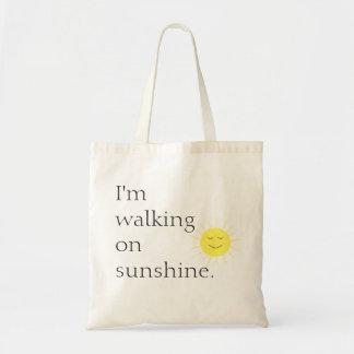 El caminar en el tote de la sol bolsa tela barata