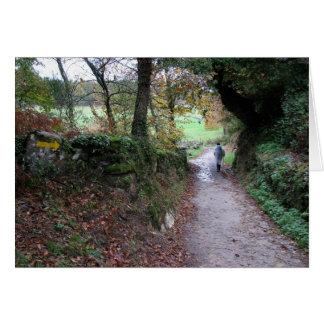 El caminar en la tarjeta de Galicia