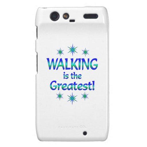 El caminar es el más grande droid RAZR fundas