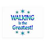 El caminar es el más grande postal