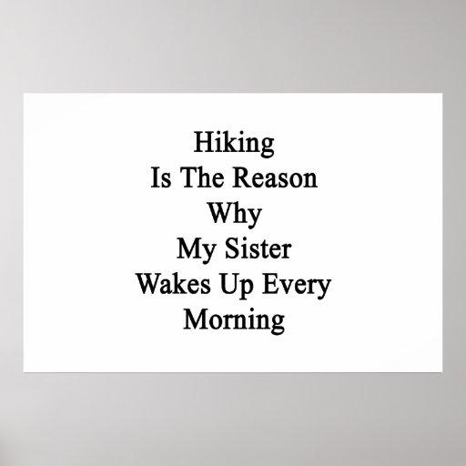 El caminar es la razón por la que mi hermana despi póster