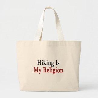 El caminar es mi religión bolsa tela grande