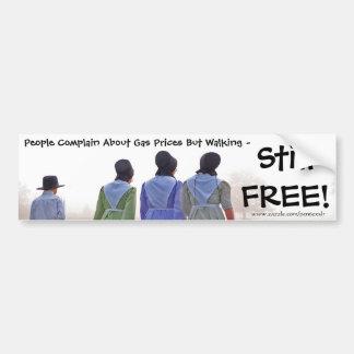El caminar está todavía libre pegatina para auto