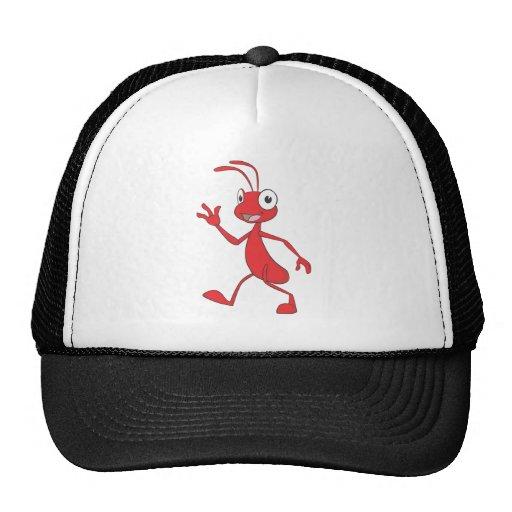 El caminar feliz y amistoso de la hormiga gorros bordados