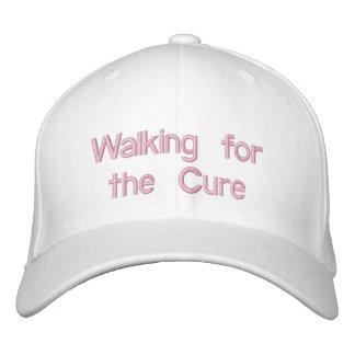 El caminar para el blanco de Curehat Gorras Bordadas