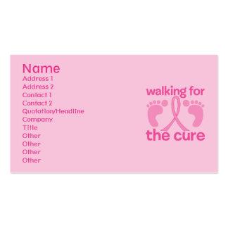 El caminar para la curación tarjetas de visita