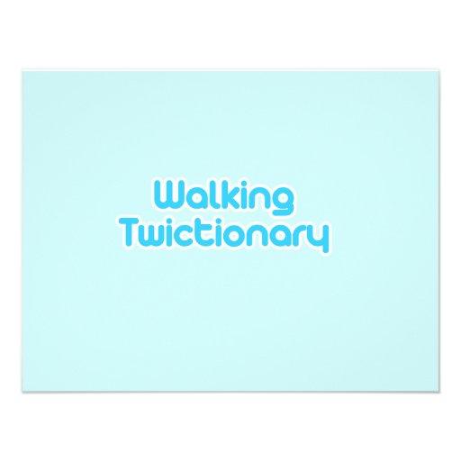 El caminar twictionary invitacion personalizada