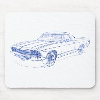 EL Camino 1969 de Chevy Tapete De Ratones
