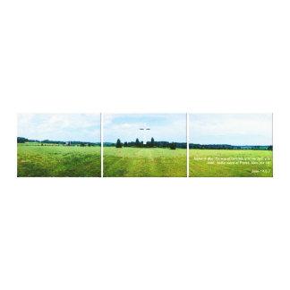 EL Camino 1 de la soja de Yo - en 3 Piezas de Foto Lona Estirada Galerias