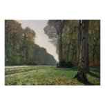 El camino a Bas-Breau, Fontainebleau, c.1865 Posters