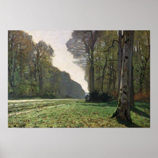 El camino a Bas-Breau, Fontainebleau, c.1865 Póster