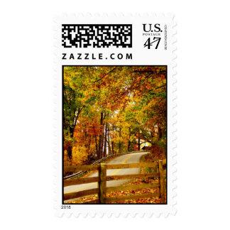 El camino a dirigirse sello postal