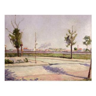 El camino a Gennevilliers, 1883 Postal