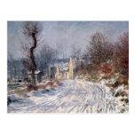 El camino a Giverny, invierno, 1885 Postal