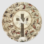 El camino a la cruz santa pegatinas