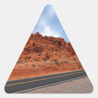El camino a la salvación pegatina triangular