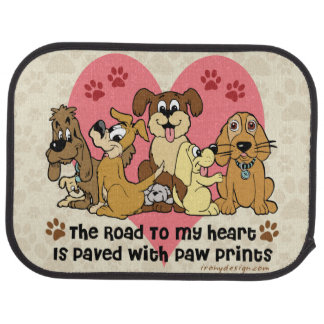 El camino a mis perros del corazón alfombrilla de auto