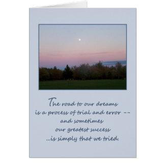 El camino a nuestros sueños… tarjeta de felicitación
