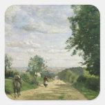 El camino a Sevres, 1858-59 Pegatina Cuadrada