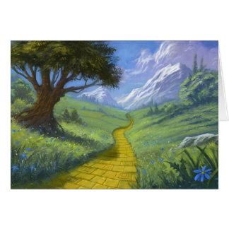 El camino amarillo del ladrillo tarjetas